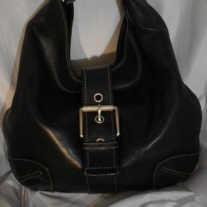 Black Michael Kors Black Leather Bag